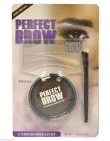 Perfect Brow Eyebrow Make up Kit Eyebrow Stencil 3 Eyebrow Stencils Brush