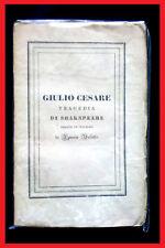 """SHAKESPEARE:  """" Giulio  Cesare """"  -  1°ed. ( Tragedie Teatro Valletta )"""