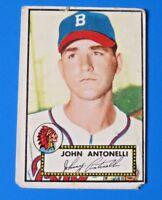 1952 TOPPS JOHN ANTONELLI BASEBALL CARD #140 ~ FAIR