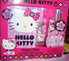 HELLO KITTY Dream Diary Set Stickers Stamp Pad Feather PEN Travel Craft 5+