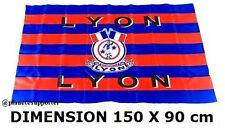 DRAPEAU SUPPORTER LYON 150 X 90 cm football no scarf écharpe flag fahne maillot