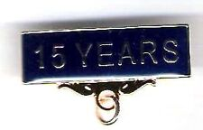 15 YEARS Service Award Title Badge Pin Blue Background