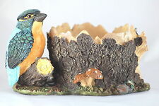 KINGFISHER PLANT POT HOLDER takes 5 inch pot. DECORATIVE GIFT FOR PLANT DISPLAY
