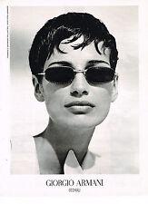 PUBLICITE ADVERTISING  1993   GIORGIO  ARMANI   collection lunettes