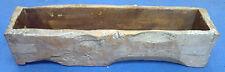 Old oak wood plant trough log window box planter rustic robust ROT-PROOF replica