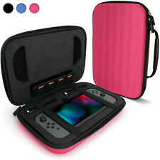 Pink 'Elite' EVA Hard Travel Case Cover for Nintendo Switch + Carry Handle