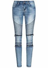 40% OFF B19117084 Damen 77 Lifestyle Jeans Biker Zip Pants 5-Pockets hell blau