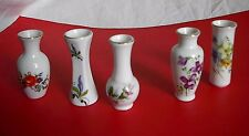 """5 Vtg McCrory Porcelain Vases Handcrafted Taiwan """"Gifts From Around The World"""""""