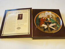 Norman Rockwell's Colonials Clinching The Deal collector plate 4071B 1987 #%