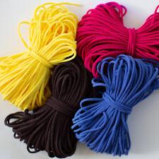 "1/8"" 3mm Round Soft Elastic Cord Pink Yellow Black DIY Making Mask 20 Yards"