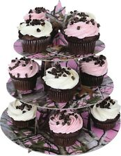 NEXT PINK CAMO CAMOUFLAGE CUPCAKE STAND AND 36 FOIL LINER CUPS BIRTHDAY PARTY