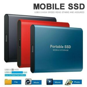"""USB 3.0 External SSD Solid State Drives 4TB 2.5"""" for Portable Mobile Laptop PS4"""