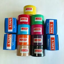 New S.Tape Kinesiology Sports Muscle Care Tex Tape - 9 rolls /  9 Colors