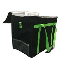 Food Delivery Bag Cooler bag for Kebab Indian Pizza Delivery Black 45x35x30cm