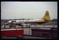 Orig 35mm airline slide Falcon Cargo Electra SE-IVT [212-5]