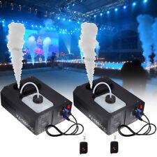 2pcs 1500W Vertical Stage Fog Smoke Machine Upspray Fogger w/Wireless Remote