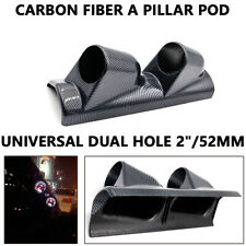 "Universal Dual Hole 2""/52mm Car A Pillar Triple Gauge Meter Pod Holder Left Side"