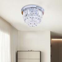 HOMCOM Crystal Lamp Ceiling Light Fixture Chandelier w/ 7- Lights Flush Mount