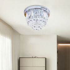 Homcom Crystal Lamp Ceiling Light Fixture Chandelier W/ 7- Lights Flush Mount