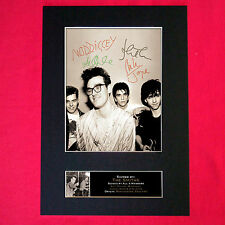 More details for the smiths mounted signed photo reproduction autograph print a4 115