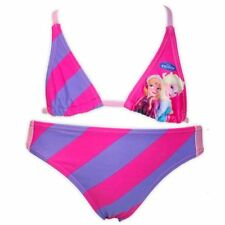 Maillots de bain bikini rose pour fille de 2 à 16 ans