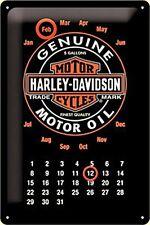 Harley Davidson Oil everlasting steel calendar (na 3020)