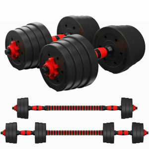 20kg 30kg Dumbbell Set Fitness Free Exercise Gym Bicep Weight Training Vinyl