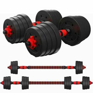20kg 30kg Dumbbell Set Fitness Free Exercise Gym Bicep Weight Training Vinyl