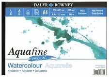 DALER ROWNEY A4 AQUAFINE SMOOTH LANDSCAPE WATERCOLOUR PAD 300gsm HOT PRESSED