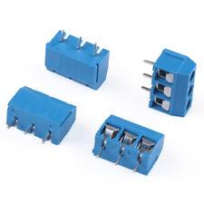 50 pcs KF301-3P 3 pin Plug-in Screw Terminal Block Connector 5.0 mm Pitch