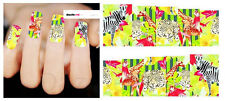 Nail Art Sticker Water Decals Transfer Stickers Zebra Leopard Giraffe (DX1493)