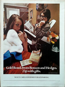 Benson & Hedges Gold Bond Charles You Know All Those Gold Bond… Advert 1971