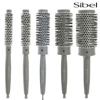 Sibel Professional Round Hair Brushes Antistatic Heat Retaining Ceramic Barrel