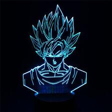 Dragon Ball Z Super Saiyan God Goku Action Figures 3D Table Lamp 7 Color Change