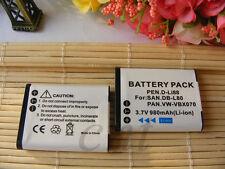 2X DB-L80 Battery for Sanyo Xacti VPC-X1200 VPC-X1220 VPC-X1250 DSC-X1250 new