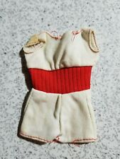 1975 Barbie Doll Outfit  - Barbie Free Moving White Sun Suit w/ Red Midriff TLC