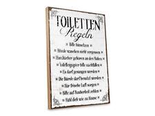 Holzschild - TOILETTEN-REGELN