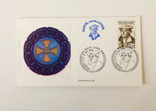 Vintage Martin Luther Serigraphic Card Paris France 1983 Collectible Stamps