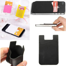 5x Silicone Credit Card Holder Cell Phone Wallet Pocket Sticker Adhesive