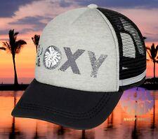 New Roxy Dig This Black Gray Trucker Snapback Cap Hat