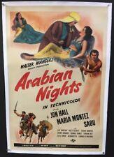 Arabian Nights Original Movie Poster 1942    *Hollywood Posters*