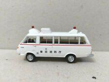 Tomytec 1/80 HO scale model car 80s-Toyota HiAce Classic Vehicle Fire Dept White