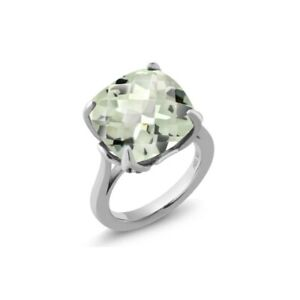 925 sterling silver green amethyst gemstone solitaire statement anniversary ring
