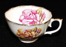 Roslyn Fine Bone China, England 8553 Footed Cup, Yellow & Pink Roses