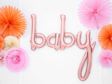 Baby Rose Gold Balloon Girl baby shower gender reveal script cursive arch decor
