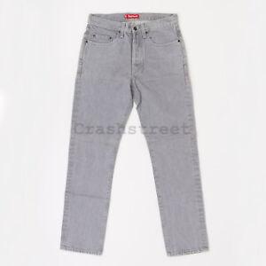 Supreme SS18 Slim Jean pant tee logo box print cap shirt - Gray
