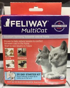 FELIWAY MULTICAT 30 DAY STARTER KIT Plug In With A 48 Ml Refill