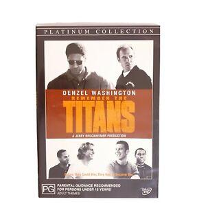 Remember The Titans DVD Region 4 AUS Free Postage - True Story Drama