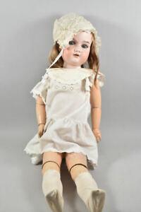 k49i07- Alte Armand Marseille Porzellankopf Puppe mit Schlafaugen