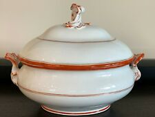 Meissen Porcelain Circa 1800's Lidded Soup Tureen Unglazed Underside